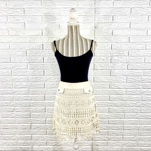 5/$25 Joe Fresh Cream Lace Skirt